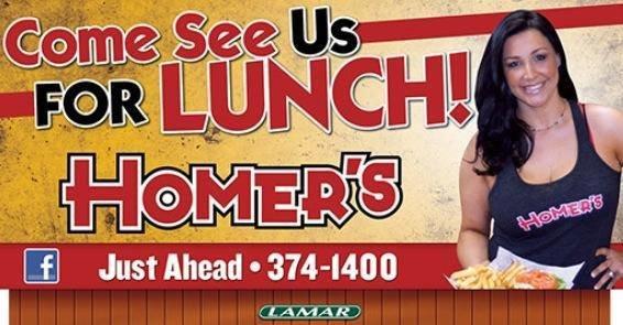 Homer's East Restaurant cover