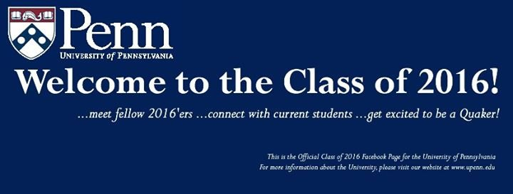 Official Penn Class of 2016 cover
