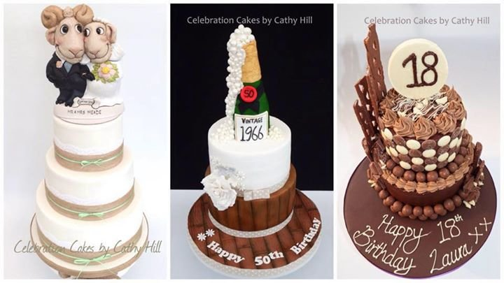 Celebration Cakes by Cathy Hill cover