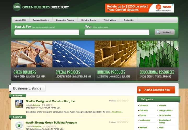 Green Builder's Directory cover