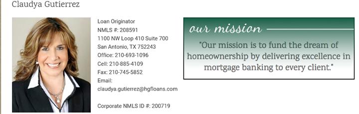 Claudya Gutierrez, Loan Officer, NMLS 208591 cover