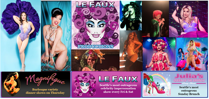 """""""Le Faux"""" at Julia's on Broadway cover"""