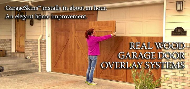 Description, What Is A GarageSkins™ Real Wood Garage Door ...