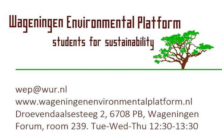 Wageningen Environmental Platform (WEP) cover