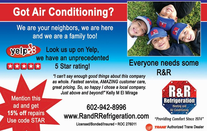 R&R Refrigeration Heating and Air Conditioning cover