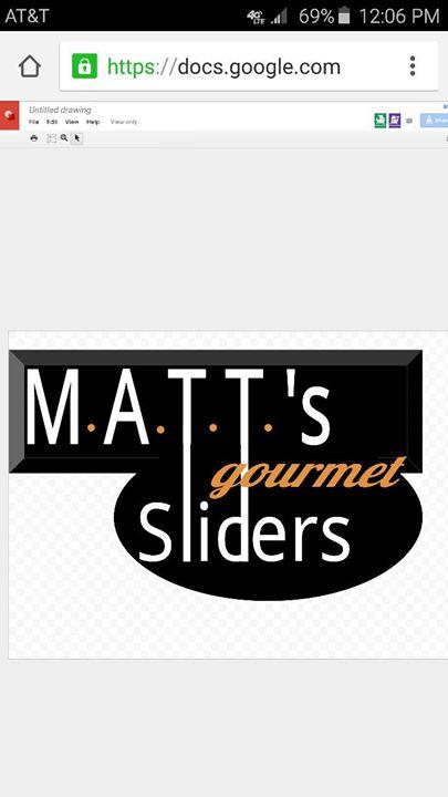 MATT's Gourmet Sliders cover