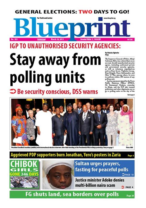 Blueprint newspapers maitama nigeria blueprint newspapers cover malvernweather Images