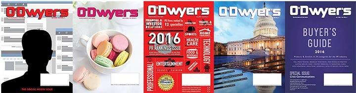 O'Dwyer's Public Relations News - odwyerpr.com cover