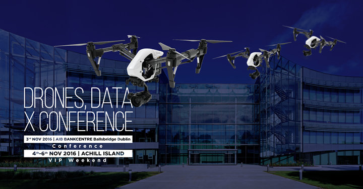 Drones, Data X Conference cover