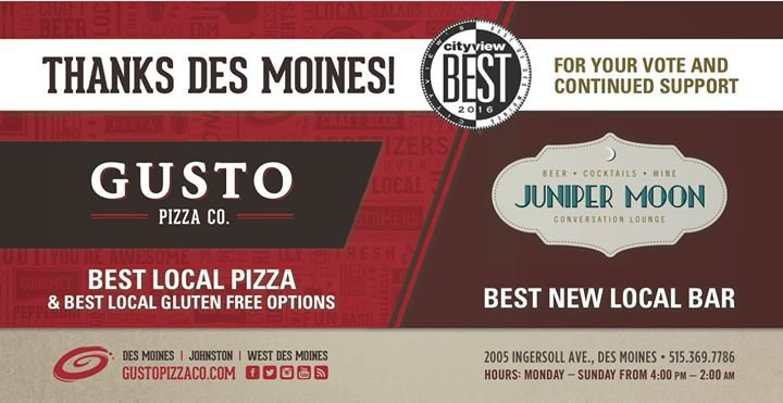 Gusto Pizza Co. cover