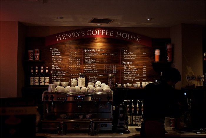 Henry's Coffee House cover