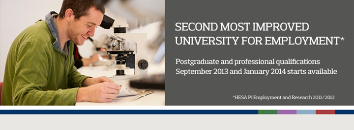 University of Derby - Postgraduate and professional courses cover