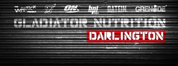 Gladiator Nutrition Darlington cover