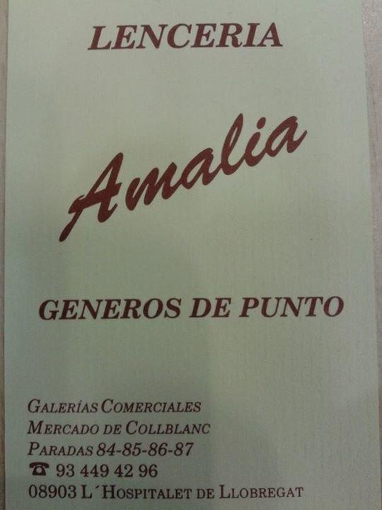 Lenceria Amalia cover
