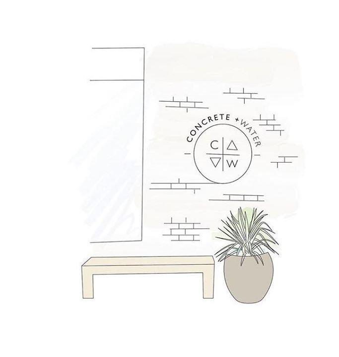 Concrete + Water cover