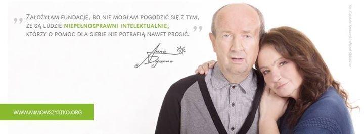 """Fundacja Anny Dymnej """"Mimo Wszystko"""" cover"""