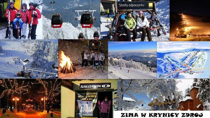 Zima w Krynicy Zdrój cover