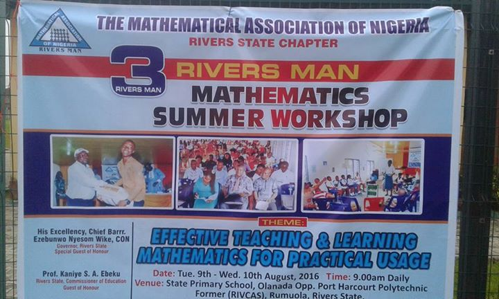 RIVERSMAN-The Mathematical Association of Nigeria Rivers State Chapter cover