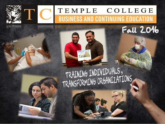 Temple College Business and Continuing Education cover