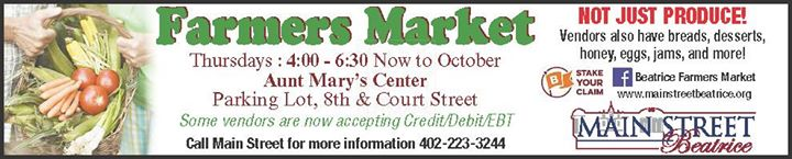 Beatrice Farmers' Market cover