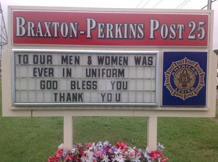 American Legion Braxton-Perkins Post 25 cover