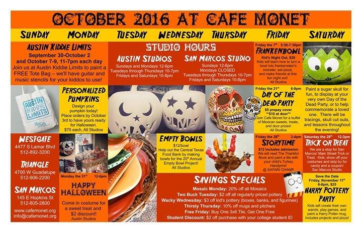 Cafe Monet Art Studio, Austin TX cover