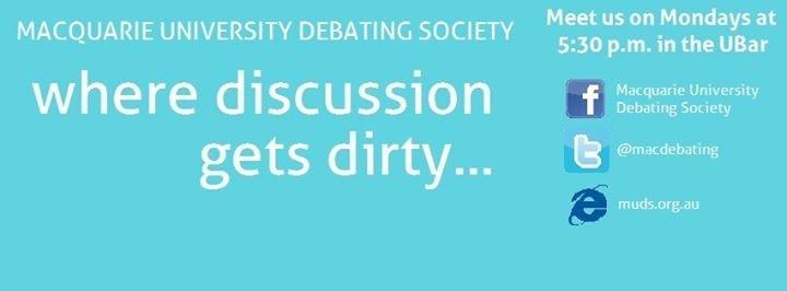 Macquarie University Debating Society cover