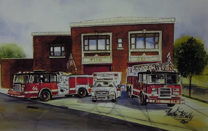 Chicago Fire Dept. Engine 46 Truck 17 Ambulance 9 cover