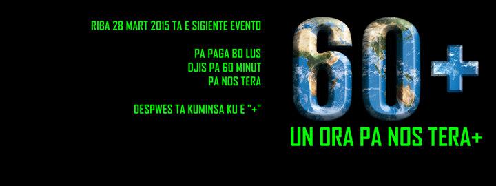 Un Ora Pa Nos Tera . Earth Hour Curacao . Een Uur Voor Natuur cover