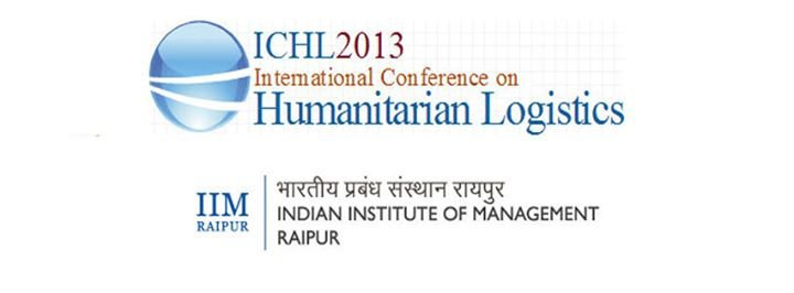 International Conference on Humanitarian Logistics - ICHL 2013 cover