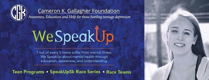 SpeakUp 5K / Cameron K. Gallagher Foundation cover