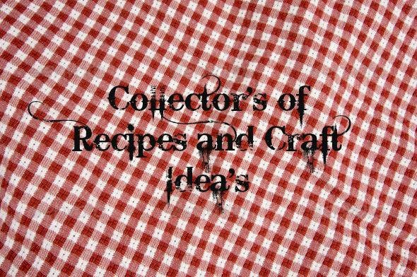 Collector's of Recipes and Craft Idea's cover