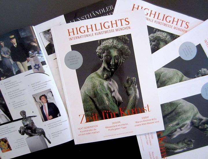 HIGHLIGHTS Internationale Kunstmesse München cover