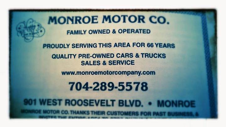 Monroe Motor Company cover