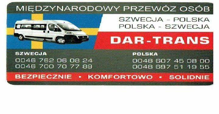 Dar-Trans Przewozy Polska Szwecja cover