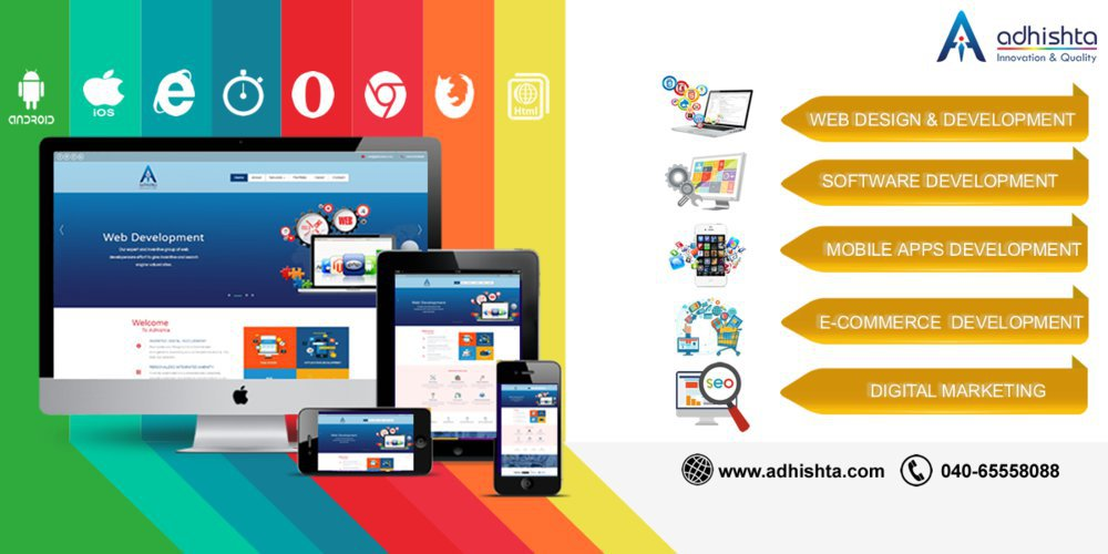 Adhishta Infotech Web site Design and SEO Services in Hyderabad cover