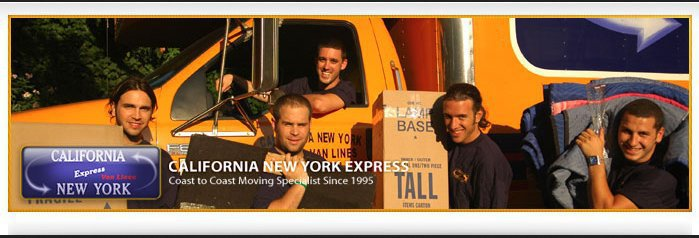 CA - NY Express cross country movers cover