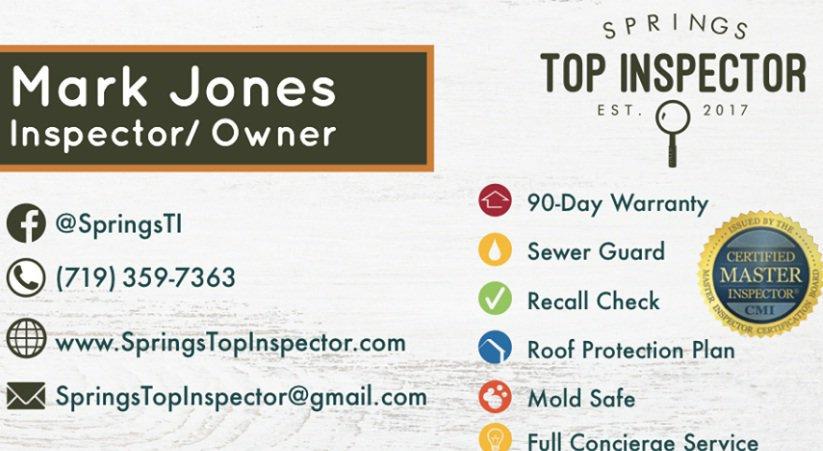 Springs Top Inspector LLC. cover