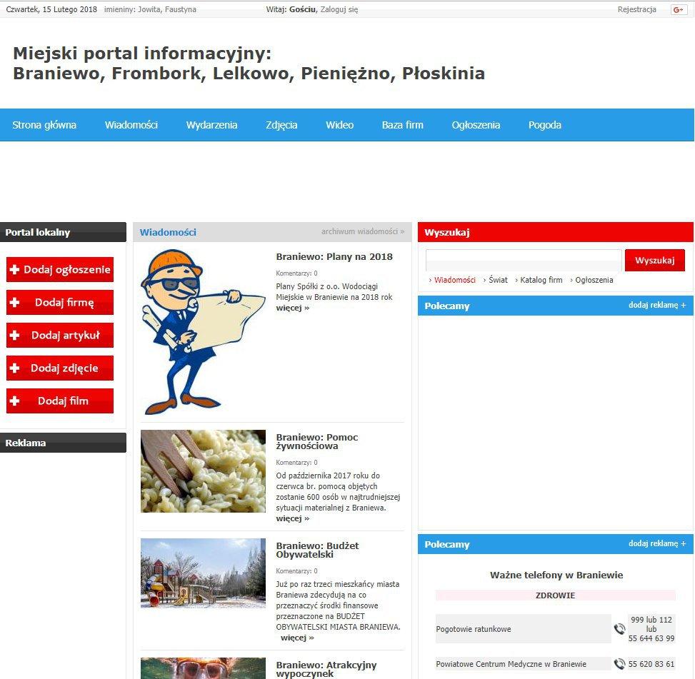 Braniewo - Informator Lokalny cover