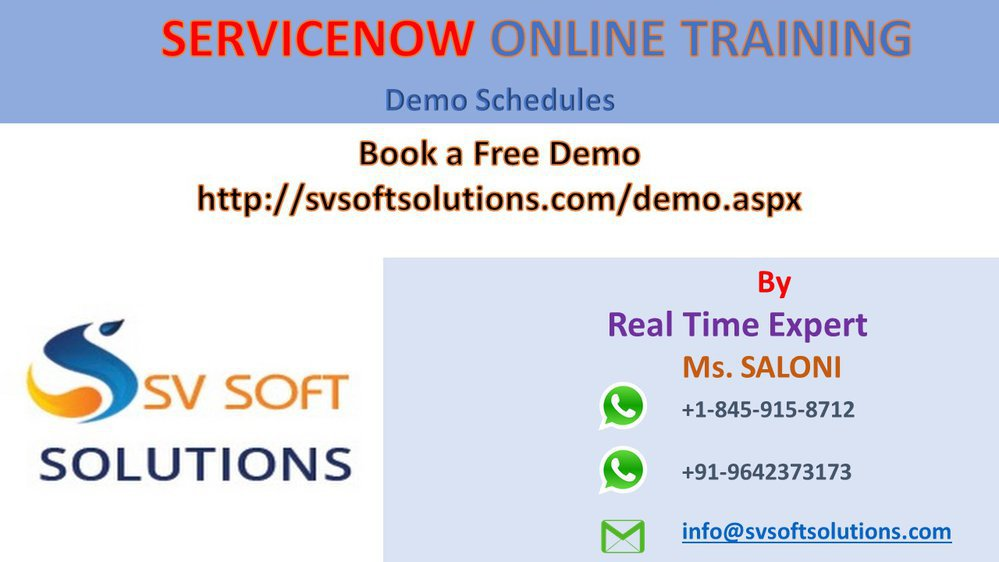 Servicenow Online Training in Hyderabad by SV Soft Solutions cover