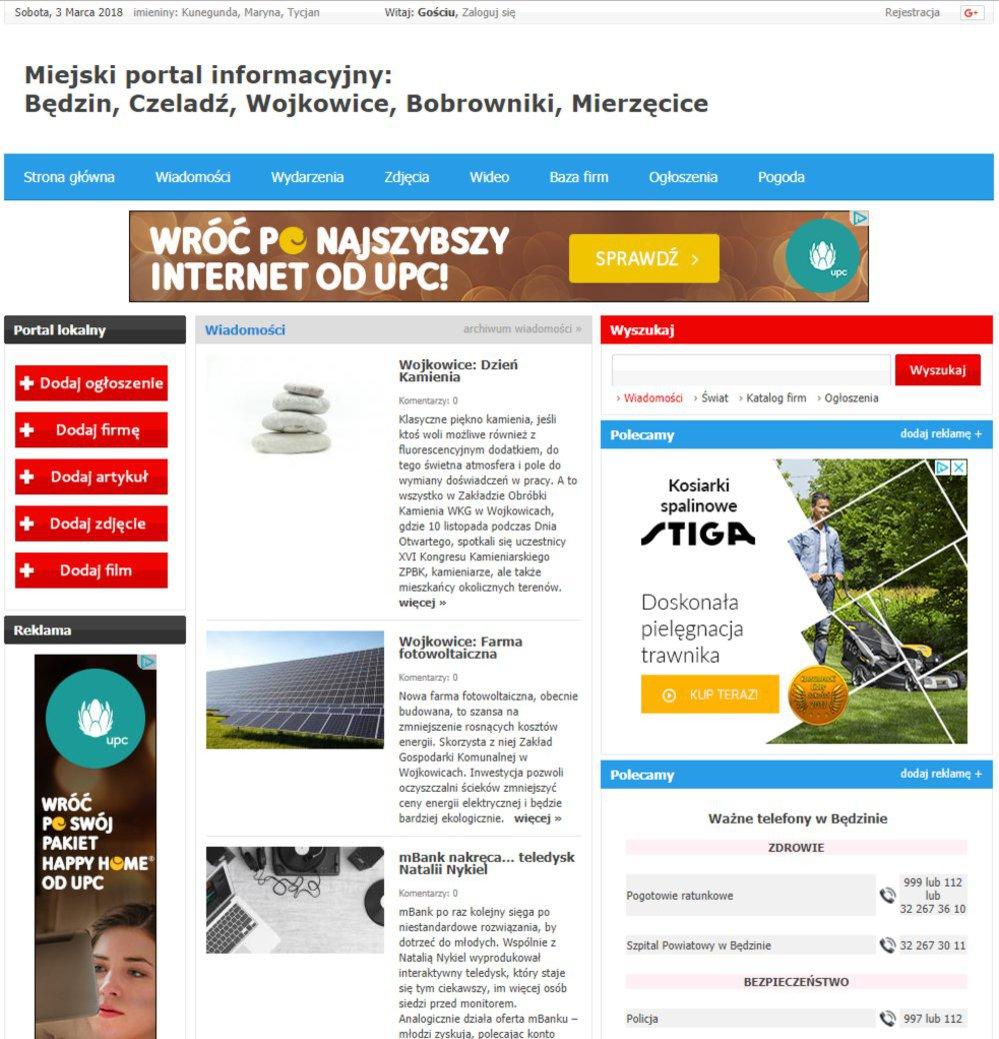 Będzin - Informator Lokalny cover