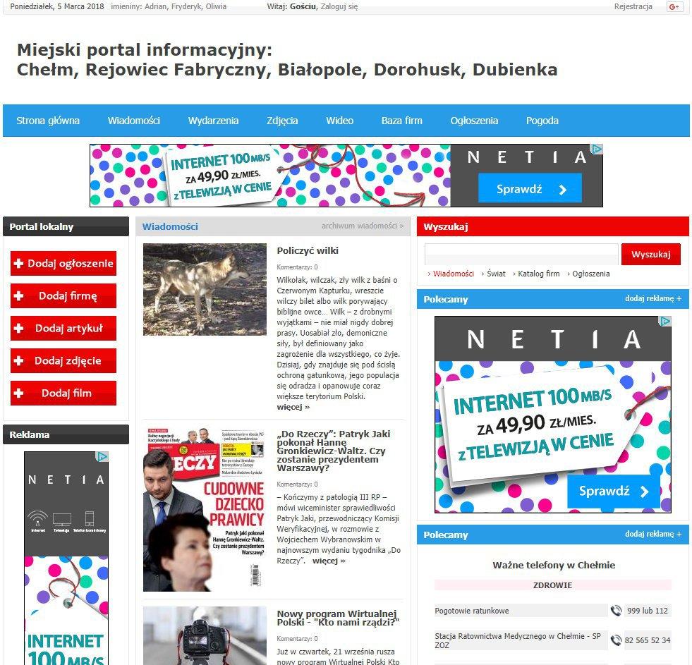 Chełm - Informator Lokalny cover