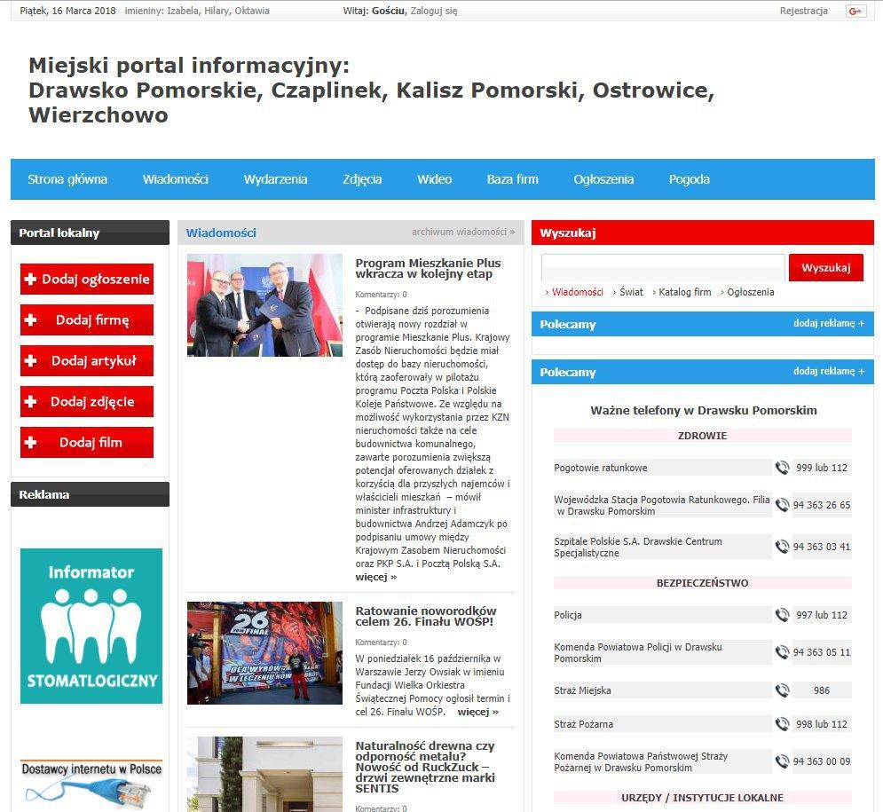 Drawsko Pomorskie - Informator Lokalny cover