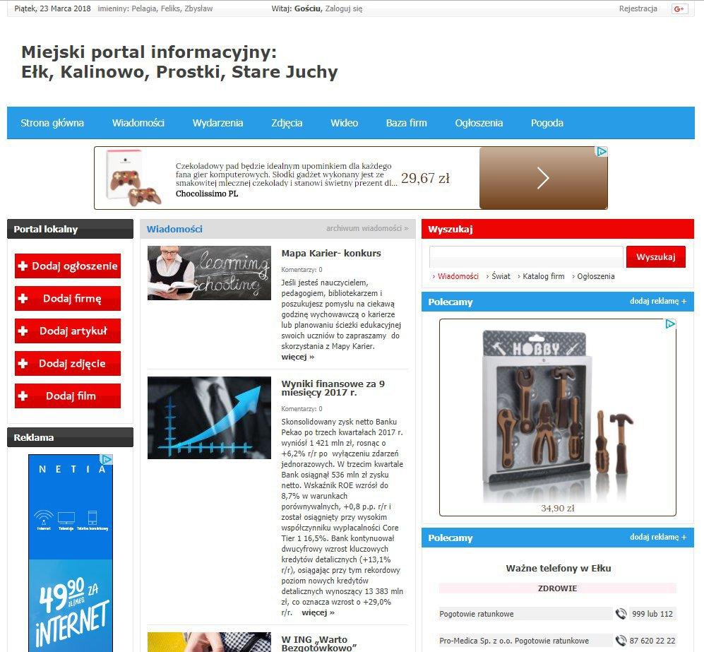 Ełk - Informator Lokalny cover