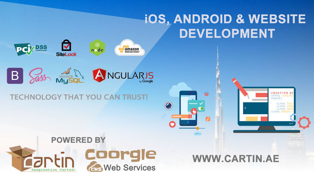 Website, Android, and iOS app development cover