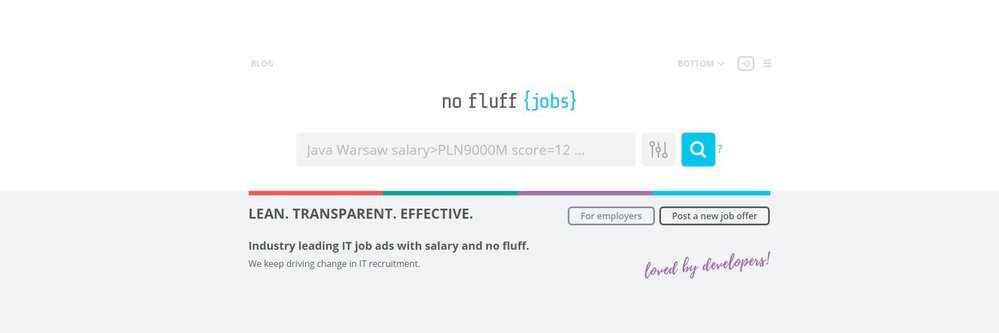 No Fluff Jobs - oferty pracy IT cover