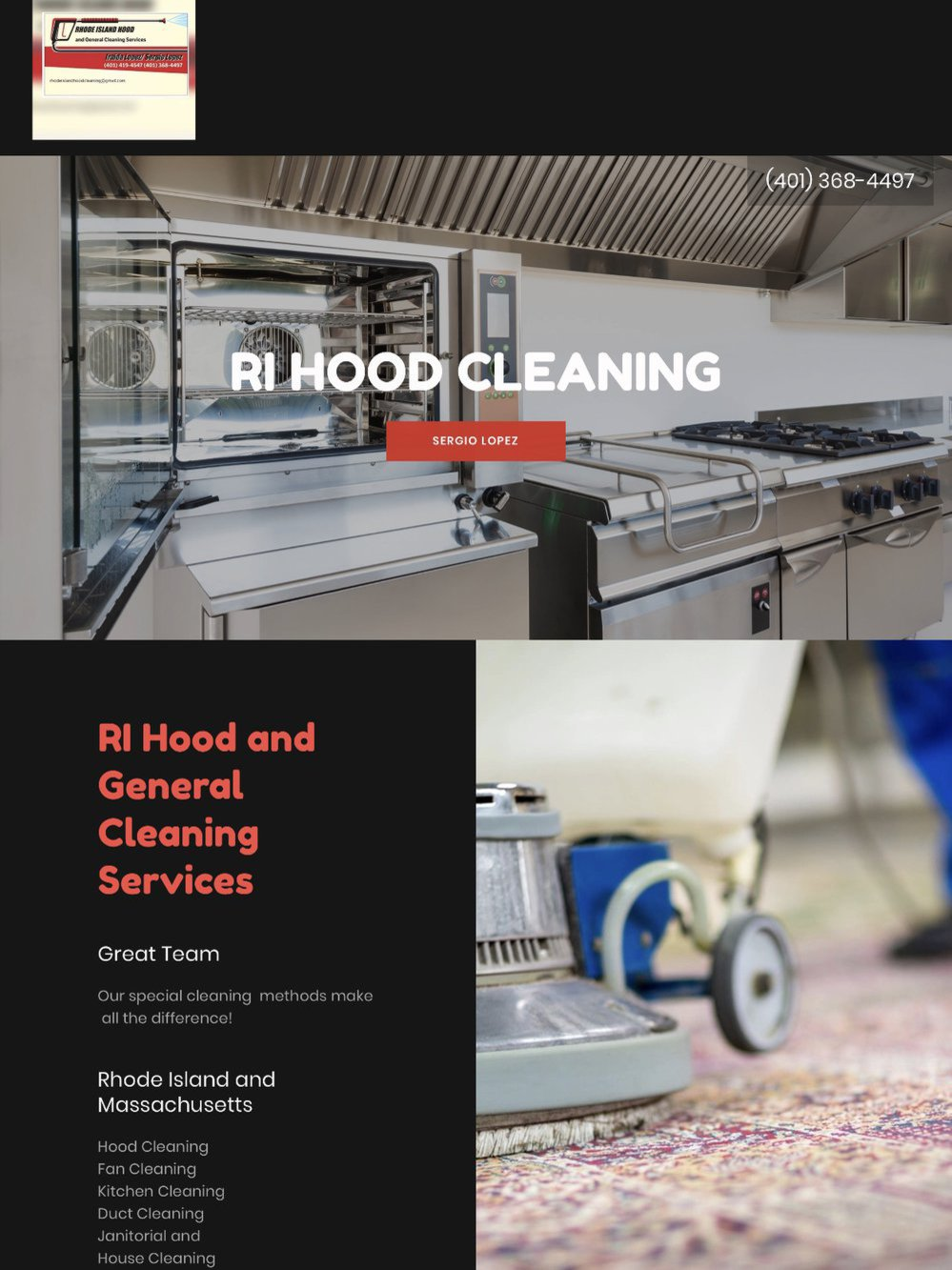 Rhode Island Hood and General Cleaning Services cover