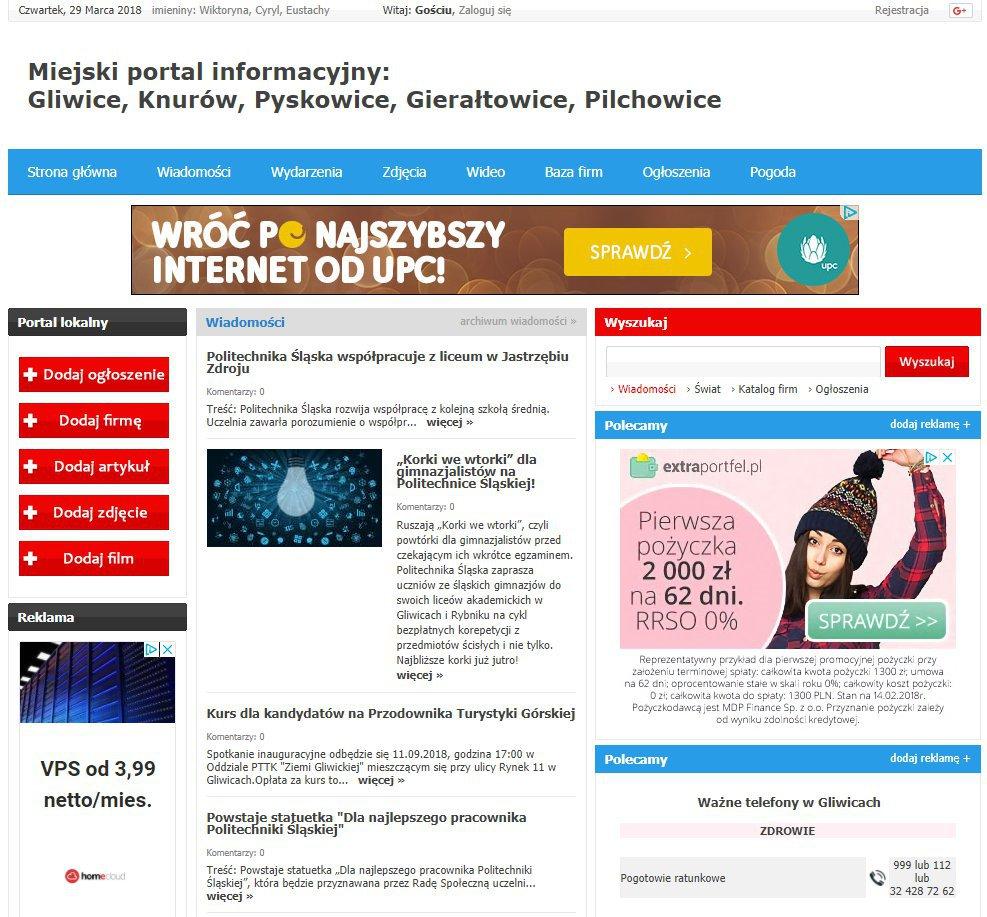 Gliwice - Informator Lokalny cover