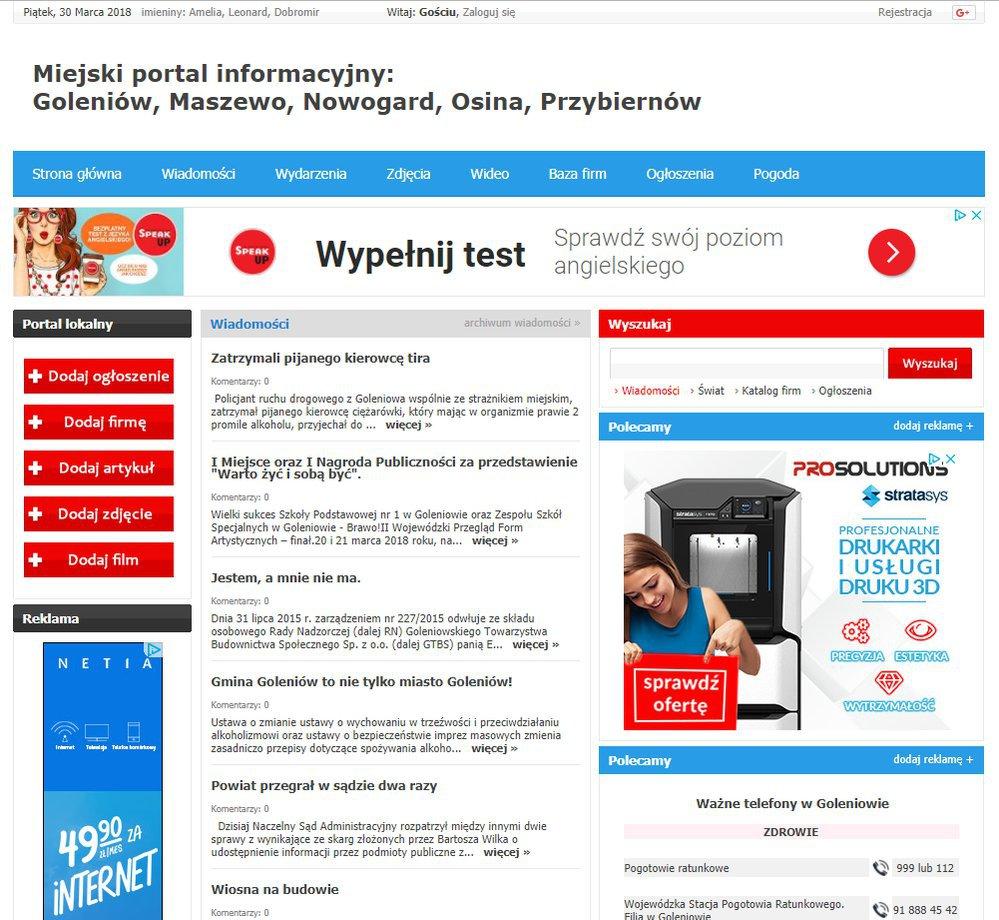 Goleniów - Informator Lokalny cover