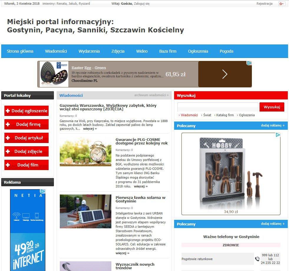 Gostynin - Informator Lokalny cover